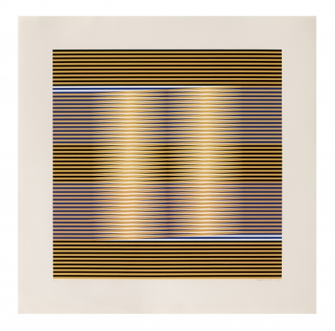 Carlos Cruz-Diez Untitled, 1974 serigraph paper: 29 1/2 x 29 1/2 inches frame: 32 3/4 x 32 3/4 inches Edition 143 of 200