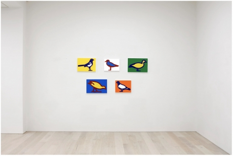 Installation view of   Julian Opie  Small Birds, 2020