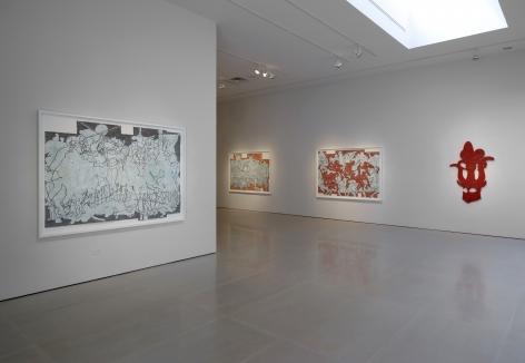 Installation view of Bo Joseph   Feeding the Beast at McClain Gallery, September 2020