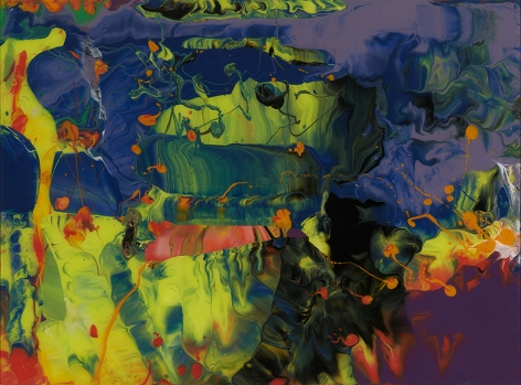 Gerhard Richter,  P11 Edition, 2014  chromographic colour print, mounted on aluminum,  14 1/2 x 19 3/4 inches,   edition of 500
