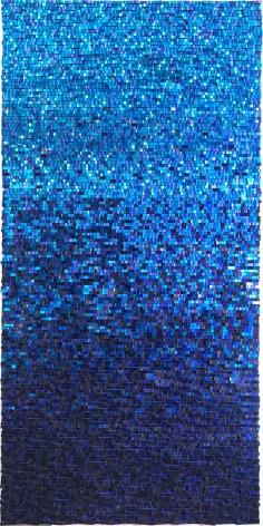 Katsumi Hayakawa Blue Reflection, 2018 paper and mixed media on wood panel 72 x 36 inches