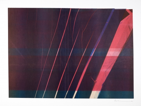 Anne Deleporte  Lightning, 2019 ink on paper mounted on Arches paper 21 3/8 x 28 5/8 inches