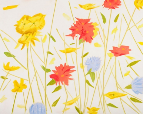 Alex Katz  Wildflowers, 2017  color silkscreen on Saunders Waterford 425 gsm paper  40 x 50 inches  Edition of 60