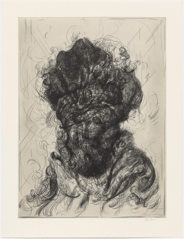 Glenn Brown Half-Life #5 (after Rembrandt), 2017 a series of 6 etchings on paper paper: 35.04 x 26.77 inches frame: 40 1/4 x 32 inches Edition 14 of 35 signed by the artist and numbered on the reverse (GB-6)