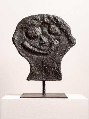 Donald Baechler  HEAD 3, 2014  bronze  15 x 14 x 4 inches