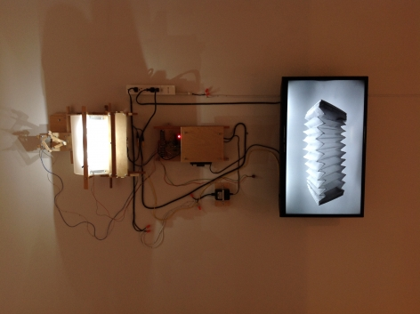 Jeff Shore | Jon Fisher  Bellows, 2013  mixed Media  dimensions variable