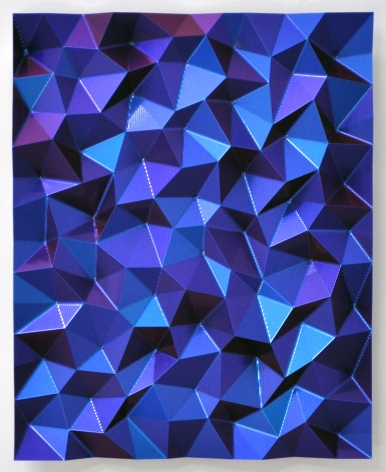 Christian Eckart,  Hexagonal Perturbation, 2010,  CNC machined billet aluminum with extreme-effect acrylic urethane,  31 x 22 x 3 1/2 inches
