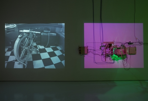 Installation image of Jeff Shore | Jon Fisher: Trailer at McClain Gallery, 2014