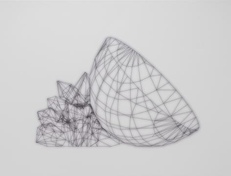 Sharon Engelstein,  Bowlful, 2018,  ink on inkjet print,  30 x 40 inches
