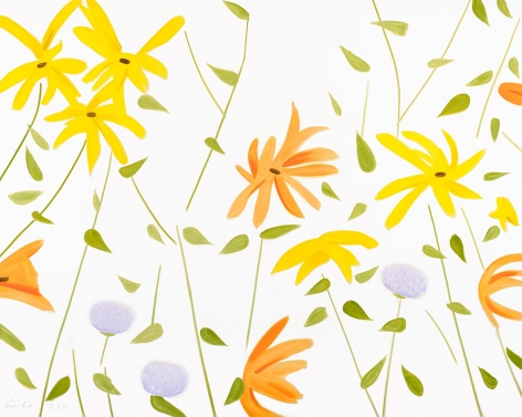 Alex Katz  Flowers 2, 2017  acrhival pigment inks on Crane Museo Max 365 gsm paper  22 3/4 x 28 1/2 inches  Edition of 100