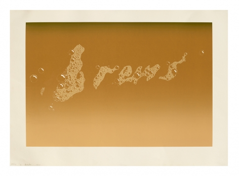 Ed Ruscha Brews, 1970 screenprint paper: 23 x 32 inches Edition 22 of 75 signed, dated and numbered bottom left front margin