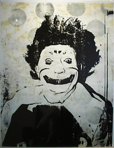 Ford Beckman Clown Portraits (Spook Clown), 1994 serigraph 58 1/2 x 42 1/2 inches (FBk-41)