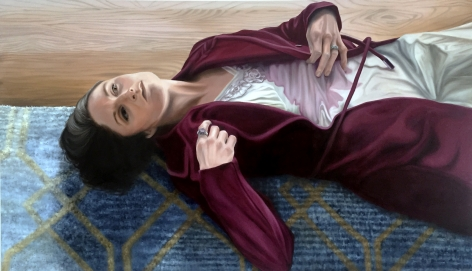 Kelli Vance  While I Was Waiting, 2018  oil on canvas 42 × 72 inches