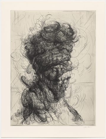 Glenn Brown Half-Life #1 (after Rembrandt), 2017 a series of 6 etchings on paper paper dimensions: 40 1/4 x 26 3/4 inches framed dimensions: 45 x 26 3/4 inches Edition 14 of 35 signed by the artist and numbered on the reverse (GB-2)