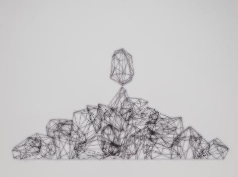 Sharon Engelstein,  Handful, 2018,  ink on inkjet print,  30 x 40 inches