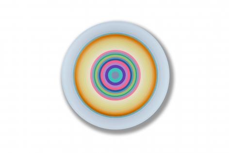 Gary Lang  BLUELIGHTFIFTEEN, 2016  acrylic on canvas  54 inches diameter