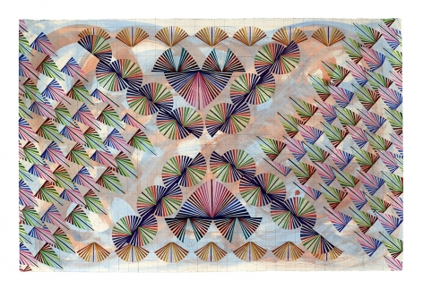 Mara Held Straight Lines 3, 2020 gouache and egg tempera on paper paper: 26 3/8 x 39 7/8 inches