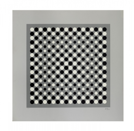 Julio Le Parc Untitled, c. 1960s serigraph paper: 26 x 26 inches frame: 28 5/8 x 28 5/8 inches Edition 16 of 125