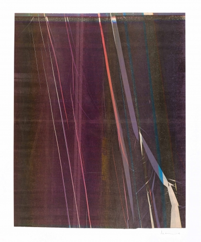 Anne Deleporte Lightning, 2019 ink on paper mounted on Arches paper 26 1/8 x 21 1/2 inches