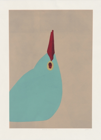 Gary Hume  Paradise Four, 2012  linocut  47.64 x 36.22 inches  Edition of 56  $9,500