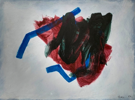 Cleve Gray  Untitled, 1984  acrylic on arches paper  22 1/2 x 30 inches  signed and dated lower right