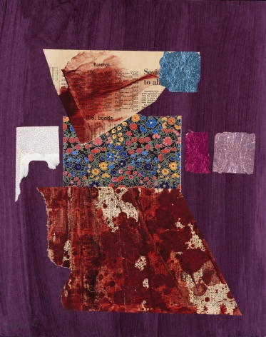Dorothy Hood  U.S. Bonds, 1982-1997  collage on mat  20 x 16 inches