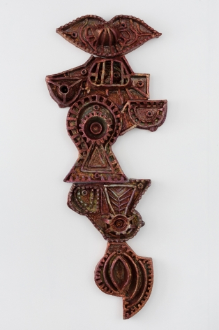 Julia Kunin Copper Machine Dreams, 2017 ceramic 56 x 24 x 3 1/2 inches