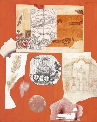Dorothy Hood  Various Happenings, 1982-1997  collage on mat  20 x 16 inches