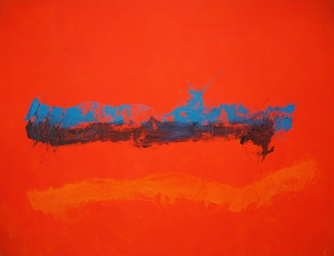 Cleve Gray,  Cadenza #11, c. 1991,  acrylic on canvas,  50 x 65 inches