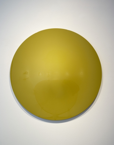 Vincent Szarek  Yellow/Green No. 1 UFO, 2019  urethane on fiberglass  36 inch diameter