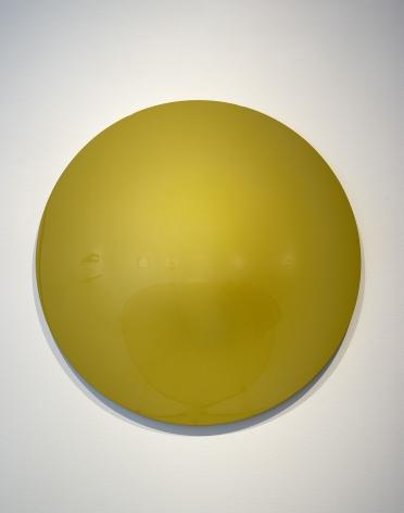 Vincent Szarek  Yellow/Green No. 1 UFO, 2019  urethane on fiberglass  36 inch diameter