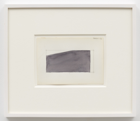 Ted Stamm DRM 12, 1980 watercolor on paper paper: 4 3/4 x 6 5/8 inches frame: 11 1/4 x 13 1/16 inches