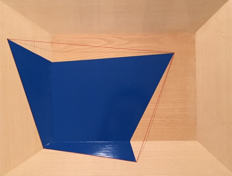 Geometric Spill Blue