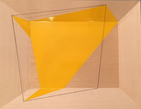 Geometric Spill Yellow