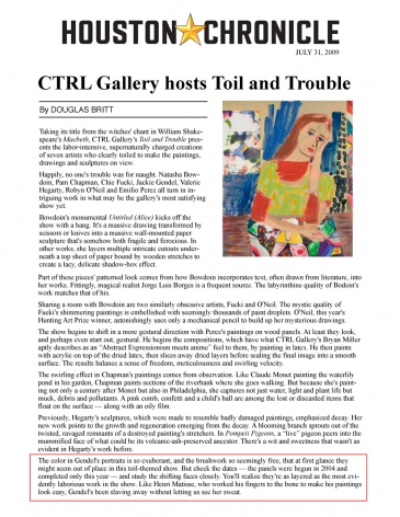 CTRL Gallery Hosts Toil and Trouble