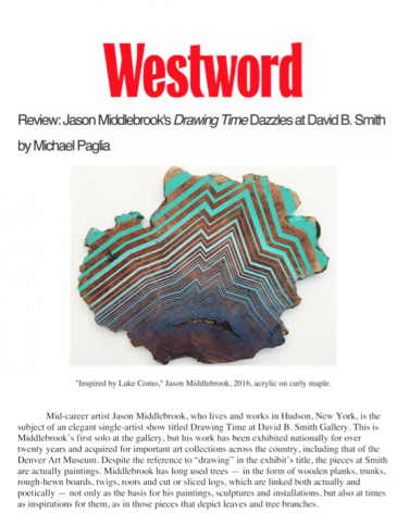 "Jason Middlebrook's ""Drawing Time"" Dazzles at David B. Smith"