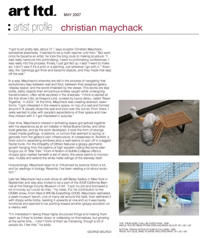 Artist Profile: Christian Maychack