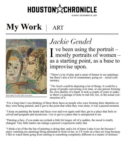 My Work: Jackie Gendel