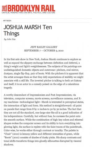 Joshua Marsh: Ten Things