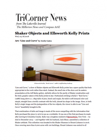 Shaker Objects and Ellsworth Kelly Prints