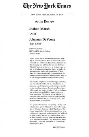 Joshua Marsh 'As If'