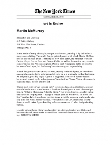Martin McMurray, Bloodshot and Glowing.