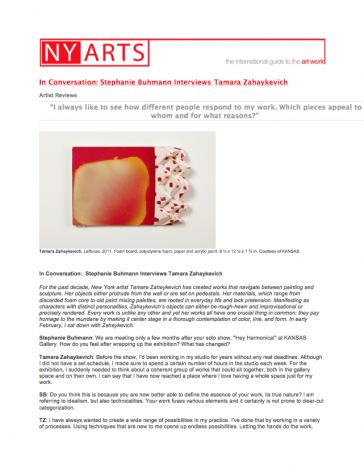 In Conversation: Stephanie Buhmann Interviews Tamara Zahaykevich