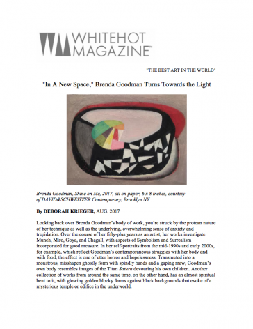 """""""In A New Space,"""" Brenda Goodman Turns Towards the Light"""