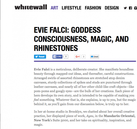 Evie Falci: Goddess Consciousness, Magic and Rhinestones