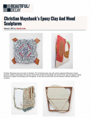 Christian Maychack's Epoxy Clay and Wood Sculptures