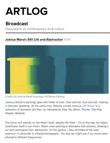 Joshua Marsh: Still Life and Abstraction