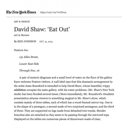 "David Shaw: ""Eat Out"""