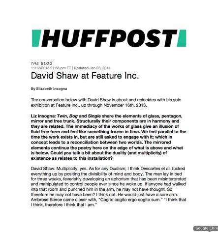 David Shaw at Feature Inc.