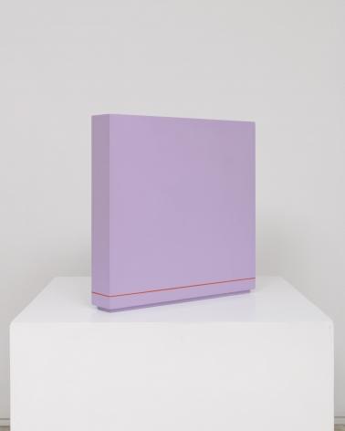 painted purple square sculpture